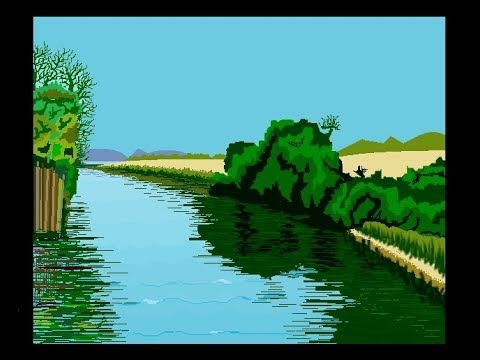 Timelapse River Canal Painting In Ms Paint Cometube