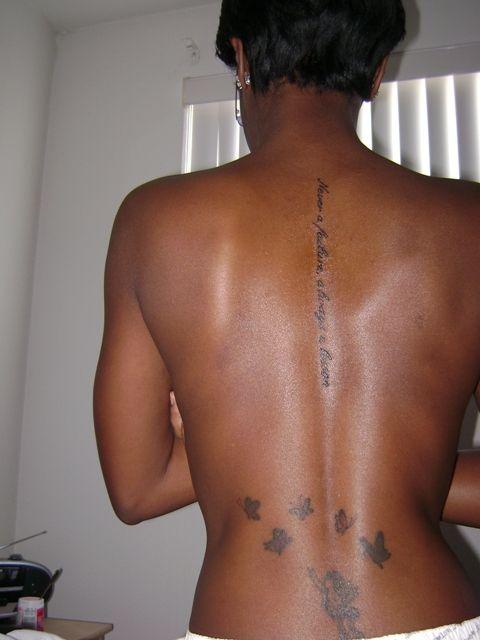 Vertical Spine Font Tattoos Men: Gorgeous Vertical Back Tattoo