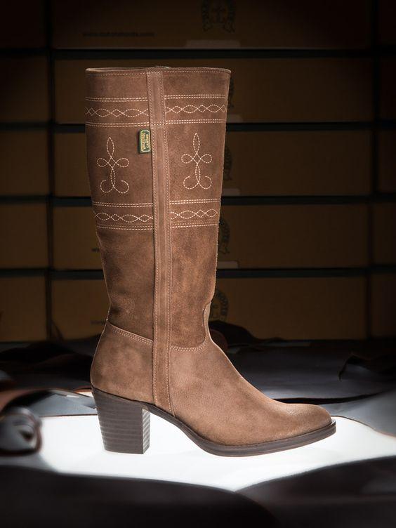 Botas de Valverde del Camino, Dakota Boots | Bota campera con tacón para mujer de Valverde del Camino, Dakota Boots:
