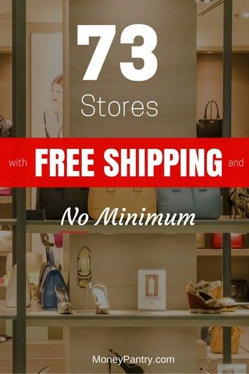 Shop for Shoes, Clothes, Accessories, Furniture and even Health & Beauty products without paying a cent for shipping!