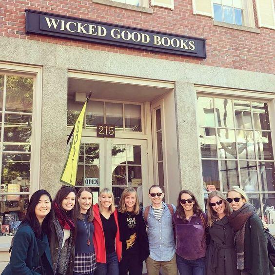 The @BookBub BizDev team in Salem!  #Salem #bookstore #indiebookstore #salemma