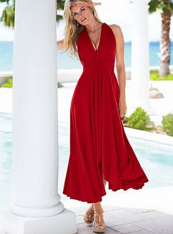 red summer dresses for women  ... Light Summer Sun Dresses : Maxi ...