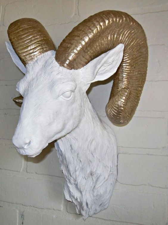 Faux Taxidermy Ram Head Animal Head Home Accessories