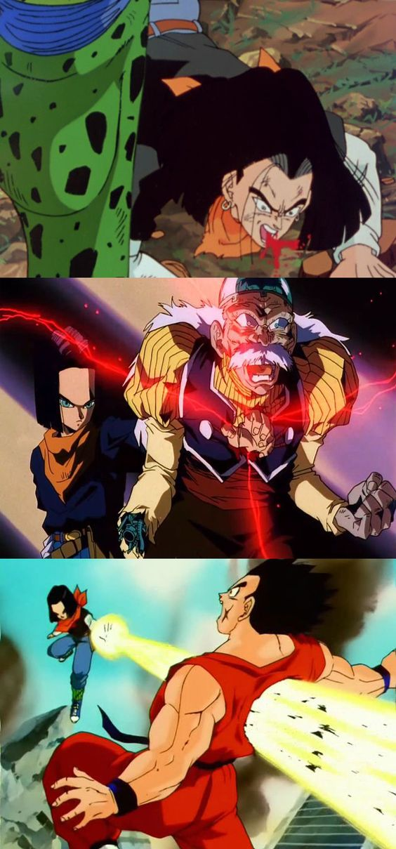 Some censored scenes of DBZ androids saga #Android_17