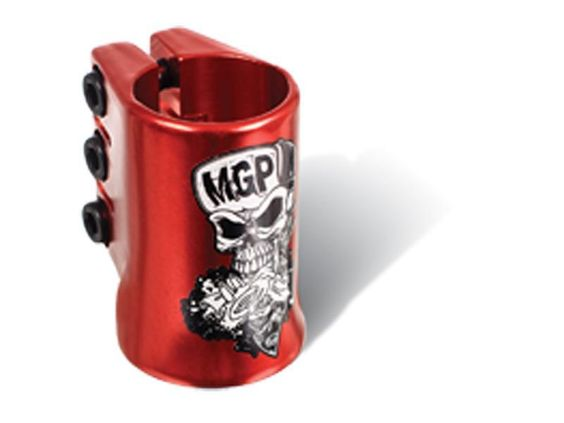 Madd Gear MGP Red Skull Water Decal Oversize Triple Scooter Clamp
