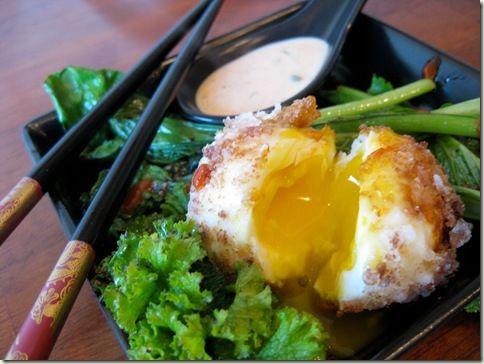 Deep-Fried Egg with Sriracha Remoulade