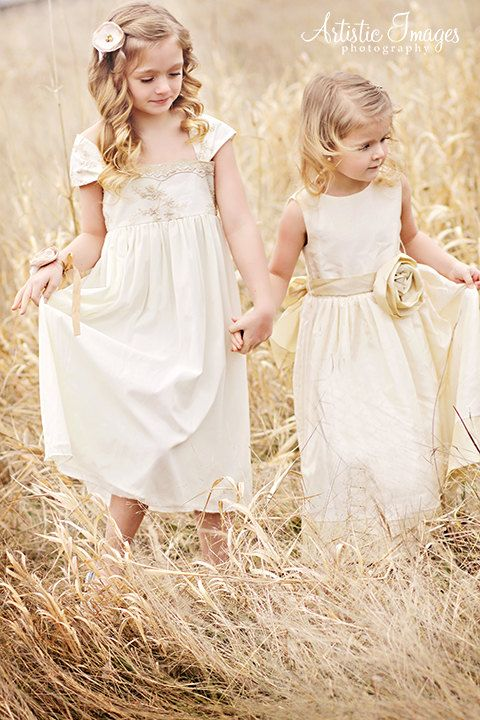 Vintage Style Flower Girl dress with french lace victorian style ...