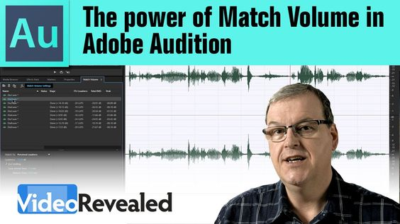 The power of Match Volume in Adobe Audition: what your options are in this menu. Perceived Loudness