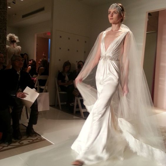 Reem Acra wedding dress, fall 2014 collection. Photo: Charanna K. Alexander/The New York Times