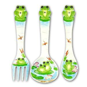 "FROG Large 17"" Spoon & Fork Wall Decor Set NEW:"