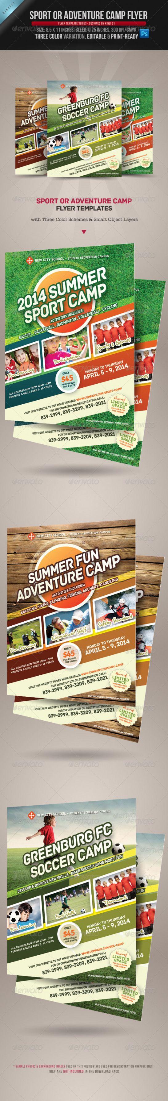Sport Or Adventure Camp Flyers Multi Sportevent Multi Sport Event Flyer Adventure Camping Multi Sport Event