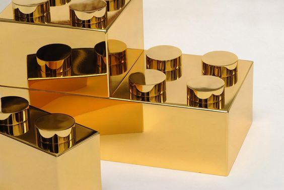 Grosses #briques plaquées or