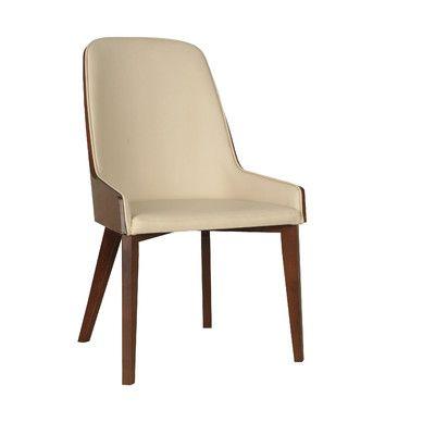 Nuans Hudson Side Chair with Wood Legs & Reviews   Wayfair
