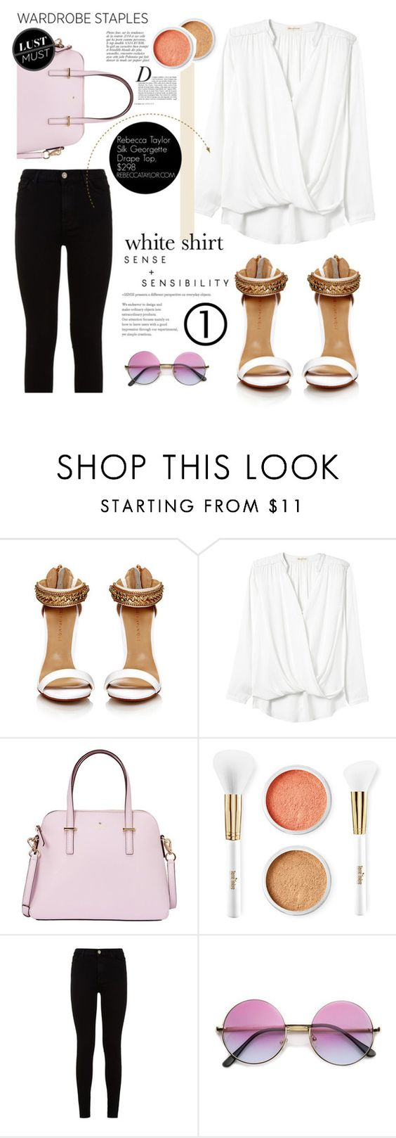 """""""Serena"""" by lumierekiss ❤ liked on Polyvore featuring Rebecca Taylor, Kate Spade, Anja, Terre Mère and 7 For All Mankind"""