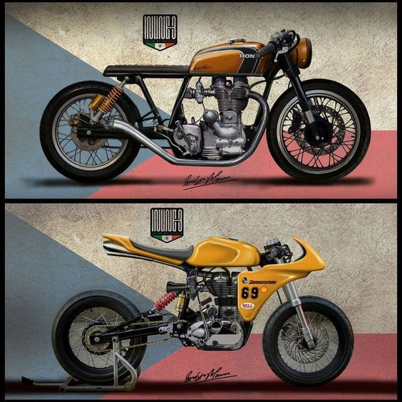 caferacerpasion.com  #CafeRacer design by Inline3 custom Motorcycles [TAGS]…