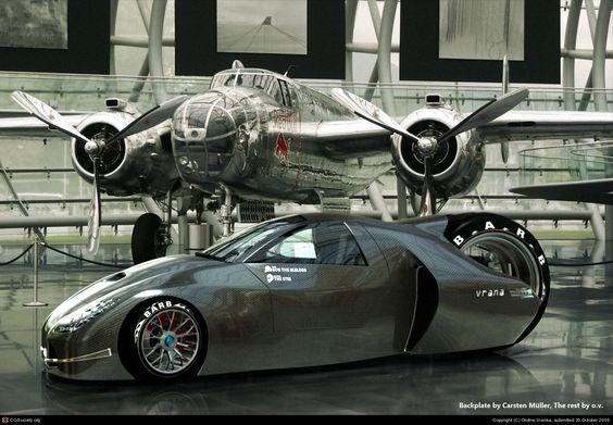 retroracer hangar shot by Ondrej Vranka   3D   CGSociety