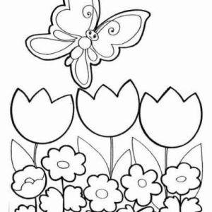 Dibujo De Primavera Para Colorear E Imprimir Para Ninos Dibujos Para Colorear Primavera Dibujos Primavera Flores Para Imprimir