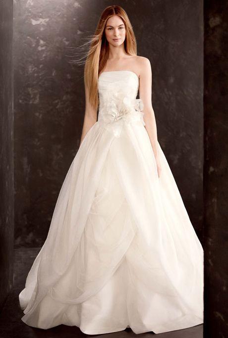 White by vera wang vera wang and davids bridal on pinterest for David s bridal tulle wedding dress