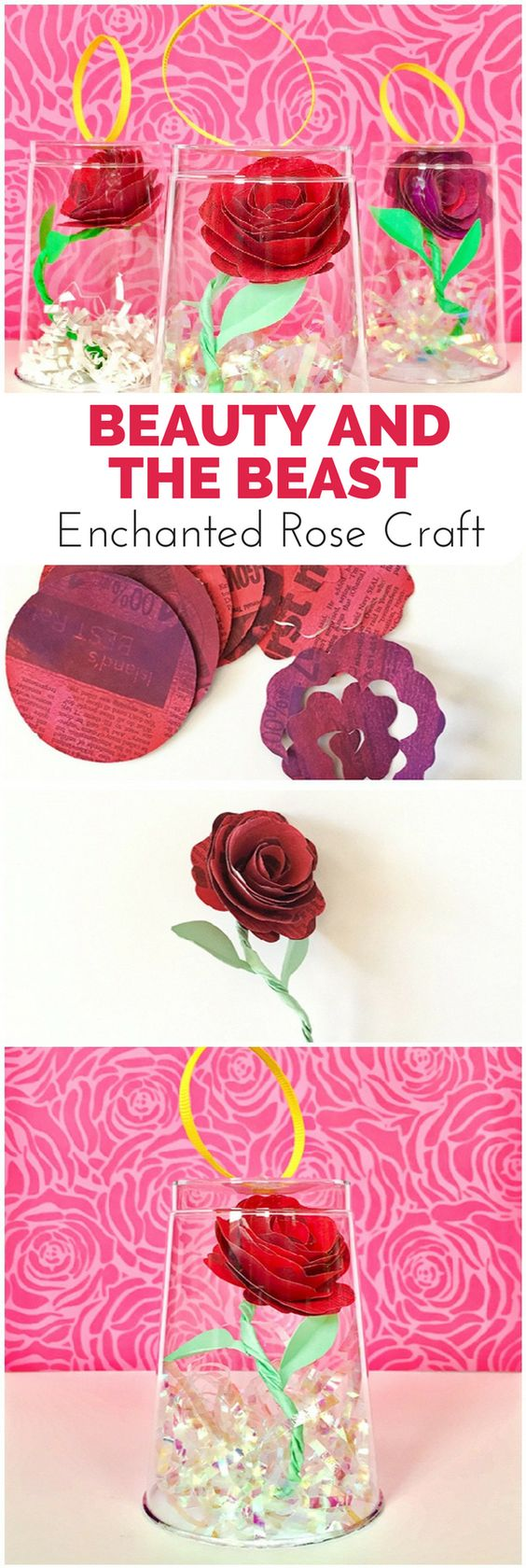 Beauty And The Beast Enchanted Rose Craft Make This