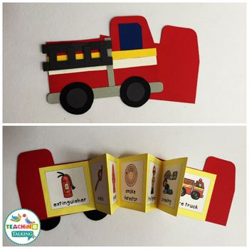 Fire Safety Vocabulary Activities & Foldables by teachingtalking.com