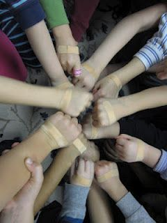 Teaching Fairness--bandaid activity  I will be doing this as soon as I hear one kid groan that something's not fair!