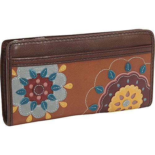Fossil Maddox Zip Clutch Floral - Fossil Ladies Small Wallets