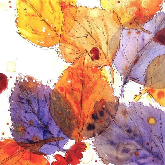 Anticipating Autumn Painting by Dawn Derman