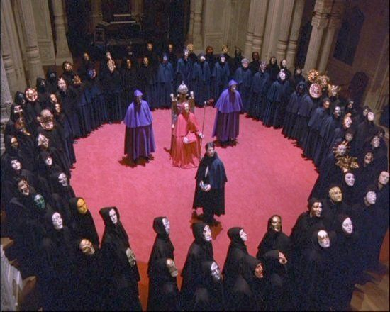 The orgy party in Stanley Kubrick's Eyes Wide Shut