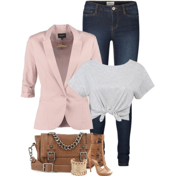 A fashion look from February 2015 featuring mbyM blazers, Vero Moda leggings and Vince Camuto shoes. Browse and shop related looks.