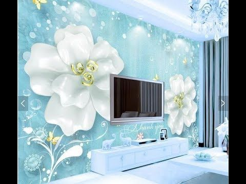 How To Design Tv Background With Wallpaper Design Modern Living Room Mural Wallpaper Tv Wall Decor Designer Wallpaper