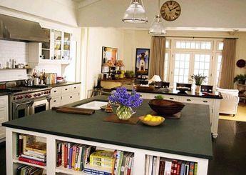 cozinha com livros