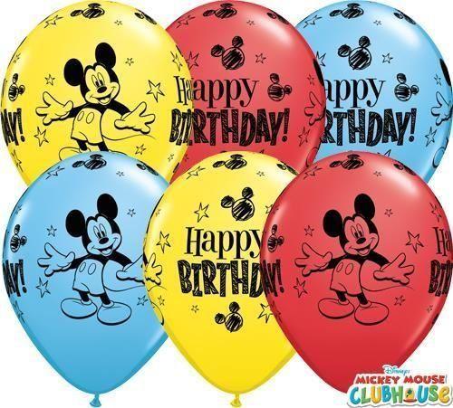 10x Folienballon Micky Maus Disney Heliumballon Luftballon Kindergeburtstag