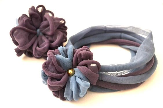 Chiudipacco, lacci per capelli, fiori - <em> con calze collant e Flower Loom</em>