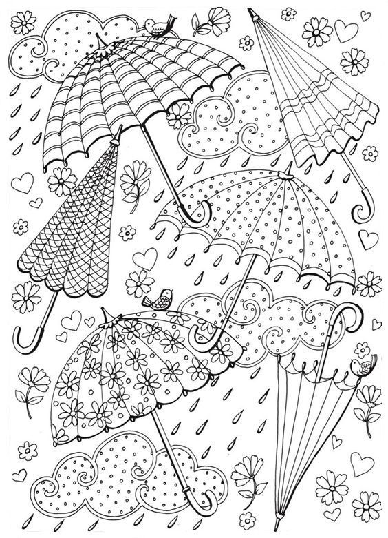 Omeletozeu Umbrella Coloring Page Spring Coloring Pages Spring Coloring Sheets