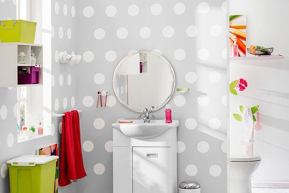 Diseno De Baño Homecenter:Círculos y más círculos para decorar el baño! #Sodimac #Homecenter