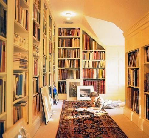 Pasillos Aprovechando El Espacio Para Los Libros Biblioteca