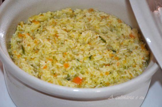 A Culinária e Eu ...: Arroz de Cenoura e Courgette