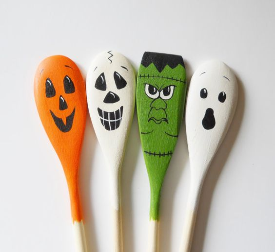 Halloween decor and products on pinterest for Wooden spoons for crafts