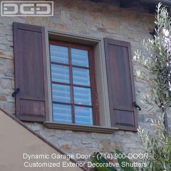 Exterior shutters architectural exterior shutter provided by dynamic garage door repair for Exterior window shutter repair
