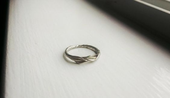 Hey, I found this really awesome Etsy listing at https://www.etsy.com/listing/271975686/forest-gold-band-14k-white-gold-wedding