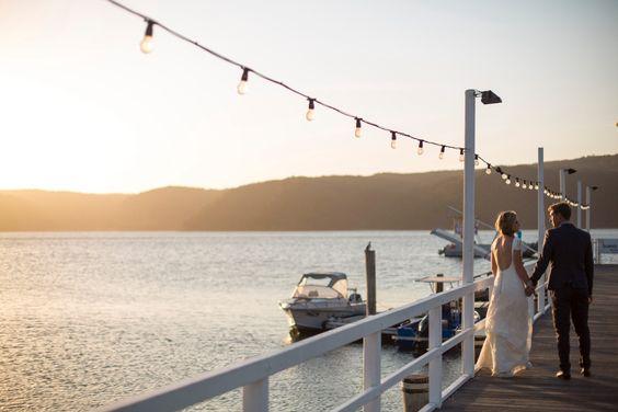 Wharf wedding