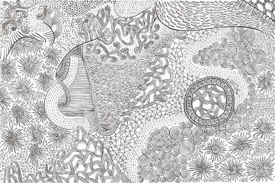 Chaos-8 (Ink pen on drawing paper,by chiu xiao li)