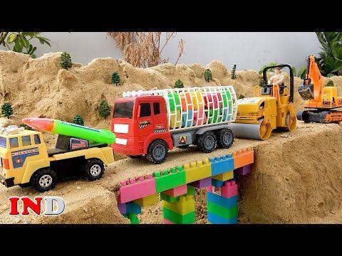 Bangun Mainan Jembatan Mobil Truk Excavator Mainan Anak Youtube Mainan Anak Truk Mainan