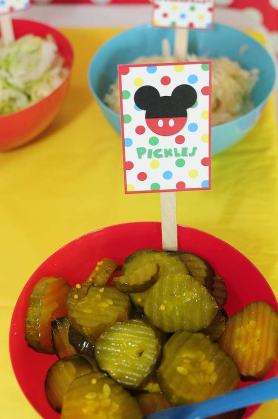 Hot Diggity Dog Bar Condiment Labels (Food Ideas) Josh's 3rd Mickey Mouse Clubhouse Celebration | CatchMyParty.com