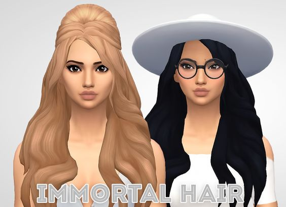 Sims 4 CC's - The Best: Immortal Hair by Ivo Sims