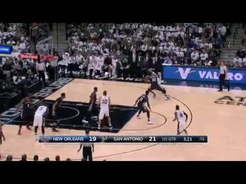 Pelicans vs Spurs Manu Ginobili Blows the defense and Drives For Two NBA Highlights Decr18 2016