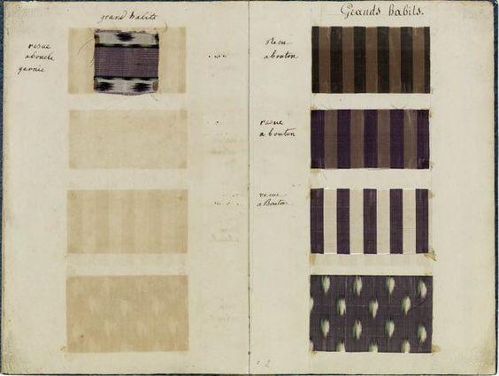 Gazette des atours de Madame Elisabeth. Musée Carnavalet et Versailles