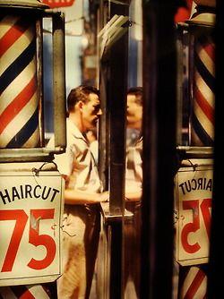 houndeye:  Saul Leiter Haircut - 1956