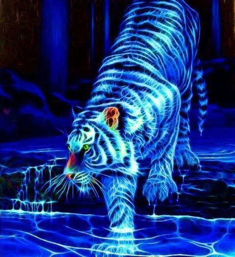 Electric tiger wallpaper