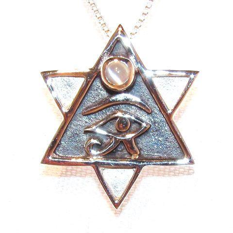 Horusauge, ägyptisches Auge, Schmuck-Anhänger Silber - samakishop